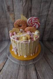 All pink drip cake- £55