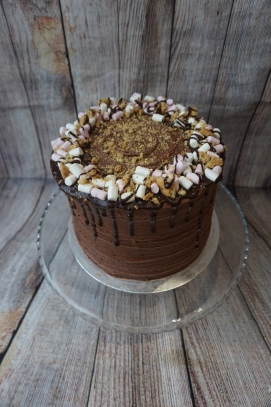 Rocky Road drip cake