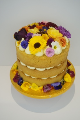 Naked cake with edible flowers- £60