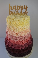 3 tier piped buttercream rose cake- £170 (topper not included)
