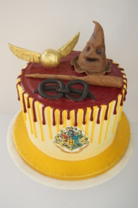 Harry Potter themed drip cake
