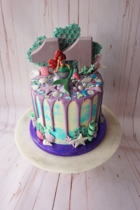 Aerial little mermaid drip cake